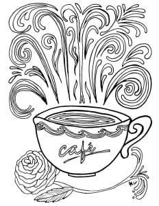 распечатать бесплатно чая раскраска чашка