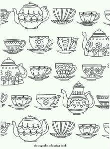 распечатать бесплатно для чая картинка раскраска чашка
