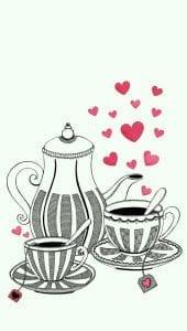 распечатать бесплатно картинка раскраска чашка для чая