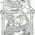 распечатать бесплатно раскраска чайная чашка
