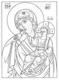 распечатать бесплатно раскраски церковь и храм православие чудеса божии 1