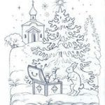 распечатать бесплатно раскраски на тему православие 1