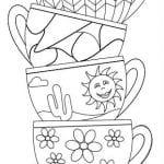 распечатать чайник и чашка раскраска