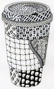 распечатать чашка чая раскраска