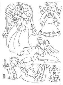 распечатать раскраска ангел божий