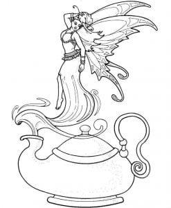 распечатать раскраска чайник и чашка