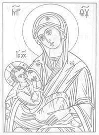 распечатать раскраски на православную тему