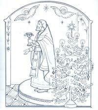 распечатать раскраски православие 1