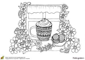 распечатать скачать раскраска чайная чашка