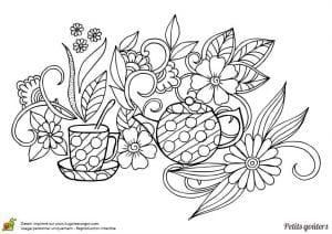 распечатать скачать раскраска чайник и чашка
