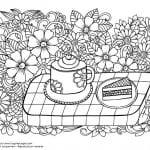 распечатать скачать раскраска чашка для чая картинка