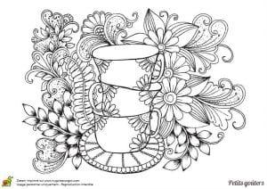 распечатать скачать раскраска чашка чая