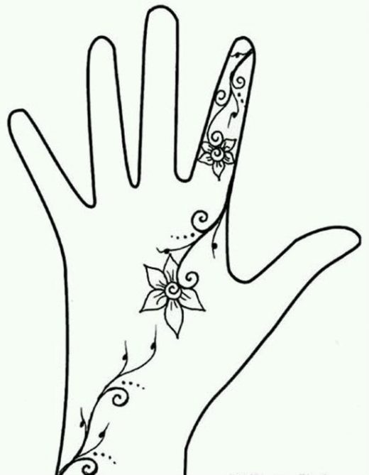 Как рисовать хной легкие рисунки на руке