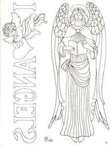 с крыльями красивые раскраски ангелов бесплатно
