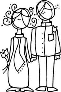 скачать бесплатно раскраски свадебные