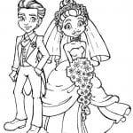скачать бесплатно распечатать раскраска свадьба