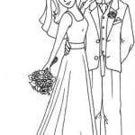 скачать бесплатно свадьба раскраска жених и невеста