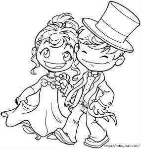 скачать бесплатно свадьба распечатать раскраска
