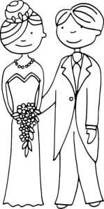 скачать бесплатно свадебные раскраски