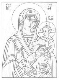 скачать раскраски православные распечатать