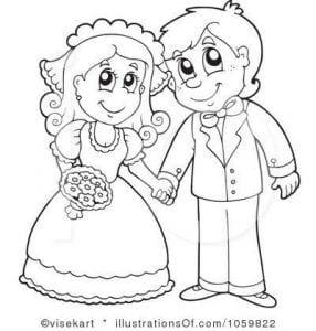 скачать раскраски свадебные