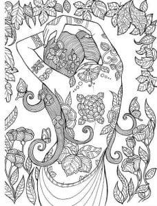 скачать раскраски татуировки распечатать