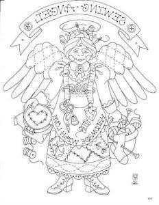скачать раскраску ангела бесплатно