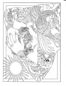 скачать татуировки раскраска антистресс для творчества и вдохновения