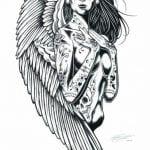 скачать татуировки раскраска антистресс