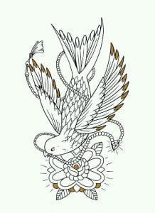 скачать татуировки узоры раскраска