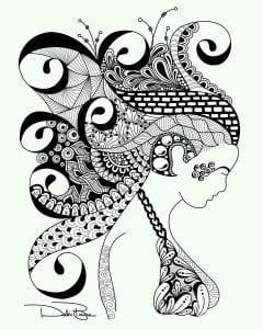 узоры раскраска татуировки
