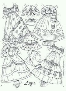 вырезные бумажные куклы