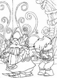 Артур и минипуты раскраска (24)