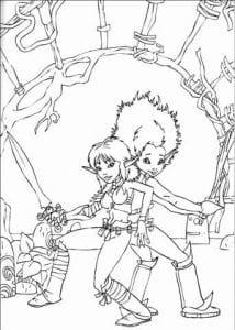 Артур и минипуты раскраска (4)