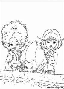 Артур и минипуты раскраска (9)