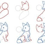 Как нарисовать лису карандашом поэтапно