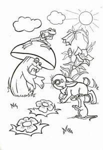 грибок-теремок раскраска (11)