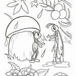 грибок-теремок раскраска (3)