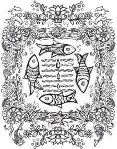 подводный мир раскраски (15)