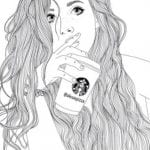 раскраски для взрослых девушки (119)