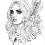 раскраски для взрослых девушки (13)