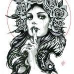 раскраски для взрослых девушки (14)