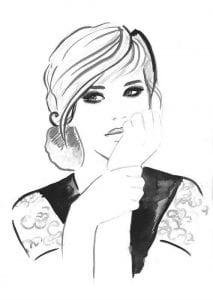 раскраски для взрослых девушки (64)
