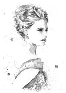 раскраски для взрослых девушки (69)