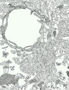 раскраски листья и деревья (10)