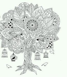раскраски листья и деревья (12)