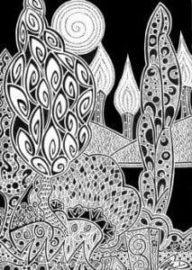 раскраски листья и деревья (14)