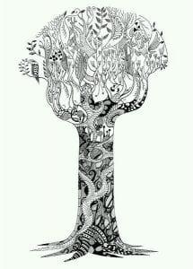 раскраски листья и деревья (18)