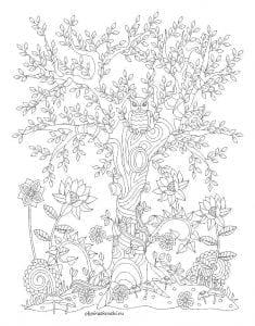 раскраски листья и деревья (2)