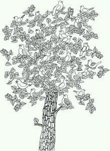 раскраски листья и деревья (20)
